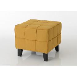 Pouf jaune 50 x 50 cm