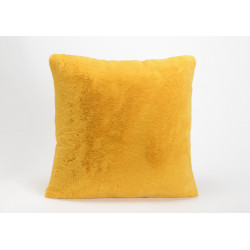 Coussin moutarde luxe 50x50 cm