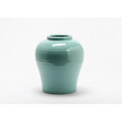 Vase vert en grès skiros...