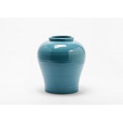 Vase bleu en grès skiros...