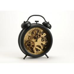 Horloge réveil noire