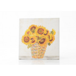 Toile tournesols 60x60 cm