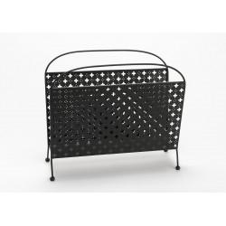 Porte-revues noir en métal