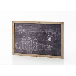 Décor mural en bois avion...