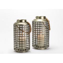 Set de 2 lanternes grillage...