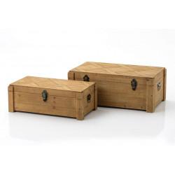 Set de 2 coffres en bois