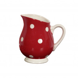 Pot à eau pois rouge