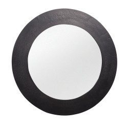 Miroir rond 74 cm Nickel