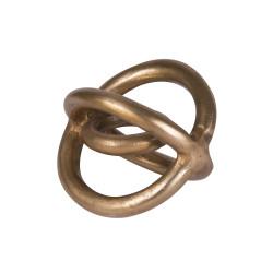 Sculpture en métal doré Galaxy