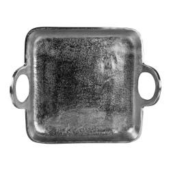 Plateau en métal argenté