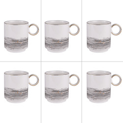 Set de 6 mugs 38 cl Comète