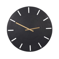 Horloge en métal noir 58 cm