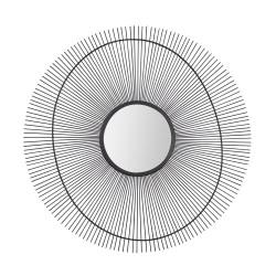 Miroir soleil noir 60 cm