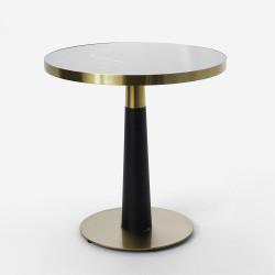 Table ronde Tulipe noire