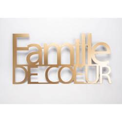 Décoration Famille de cœur