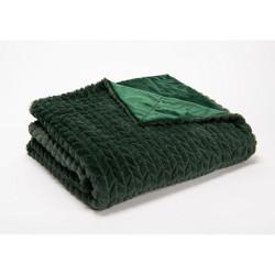 Plaid Chevron vert 130 cm x...
