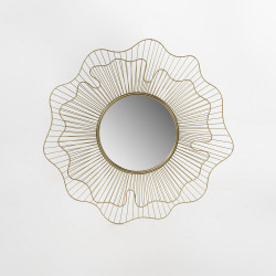 Miroir Fleur fleur metal 92 cm