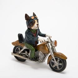Décoration chien sur  moto...