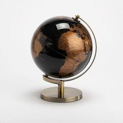 Globe terrestre noir et...