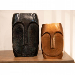 Duo de vases visage carré...