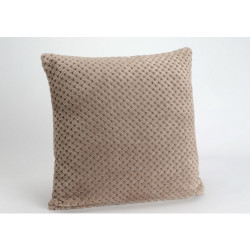 Coussin damier taupe 40x40cm