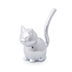 Porte bague chat en métal...