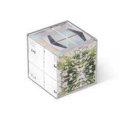 Porte photo cube 3 vues 6x6 cm
