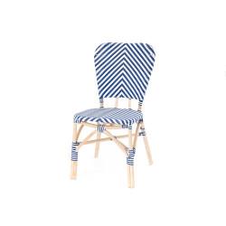 Chaise de bistrot Bleu