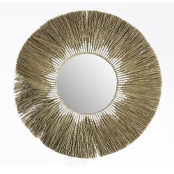 Miroir en paille Soleil 95cm