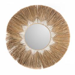 Miroir en paille Soleil 75cm