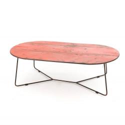 Table basse métal rouge