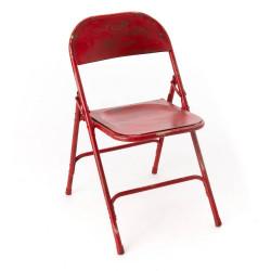 Chaise pliante Métal rouge