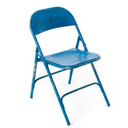 Chaise pliante Métal bleu