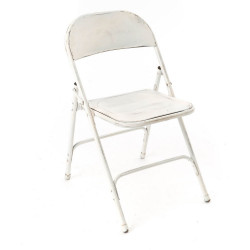 Chaise pliante Métal blanc