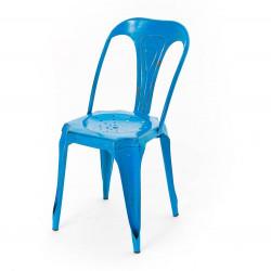 Chaise Bistrot Métal bleu