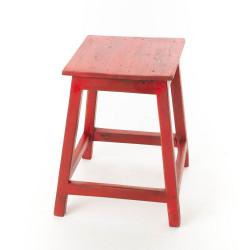 Tabouret Bistrot bois rouge