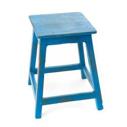 Tabouret Bistrot bois bleu