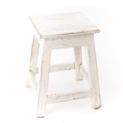Tabouret Bistrot bois blanc