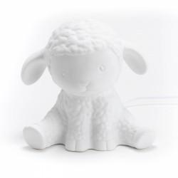 Lampe mouton porcelaine
