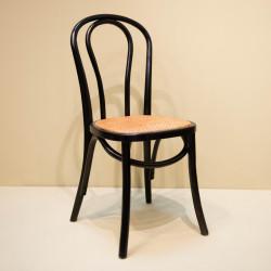 Chaise bistrot noir et cannage