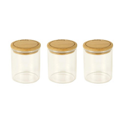 Set 3 boites à épices verre...