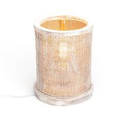 Lampe de table rotin
