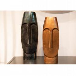 Ensemble 2 vases visages...