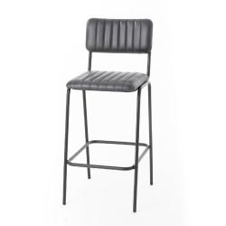 Chaise haute cuir (lot de 2)