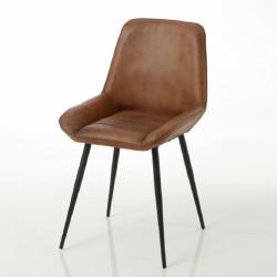 Chaise cuir Antoine (lot de 2)