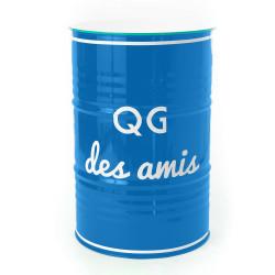 Tonneau QG des amis bleu 90cm