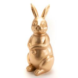 Lapin doré en polyrésine 54 cm