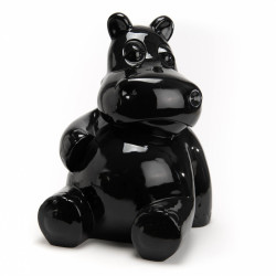 Hippo assis noir en...