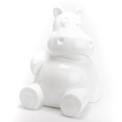 Hippo assis blanc en...