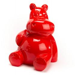 Hippo assis rouge en...
